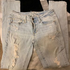 AEO Skinny Stretch Distressed Jeans